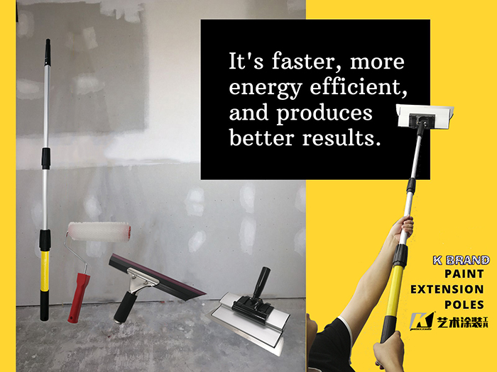 K brand paint extension pole to be one of the critical interior painting tools